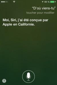 Siri d'ou viens-tu ?